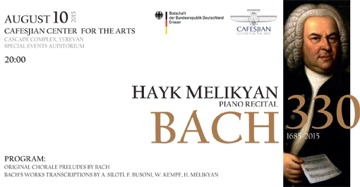 Hayk Melikyan Concert Dedicated to 330th Anniversary of J.S. Bach